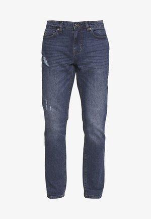 SLIM - Straight leg jeans - stone blue denim