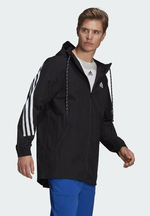 ADIDAS SPORTSWEAR 3-STRIPES TAPE JACKET - Cortaviento - black