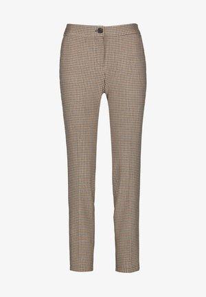 Trousers - schwarz braun honig
