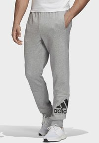 adidas Performance - BADGE OF SPORT FRENCH TERRY JOGGERS - Tracksuit bottoms - grey - 0