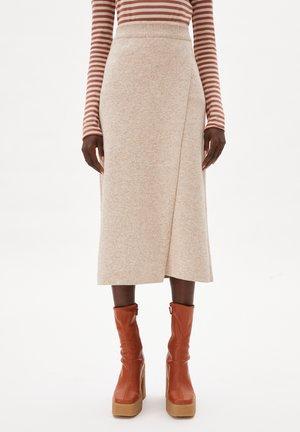 A-line skirt - light desert melange