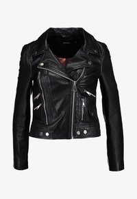 Vero Moda - VMDREAM SHORT JACKET - Skinnjakke - black/cafe au lait lining - 4