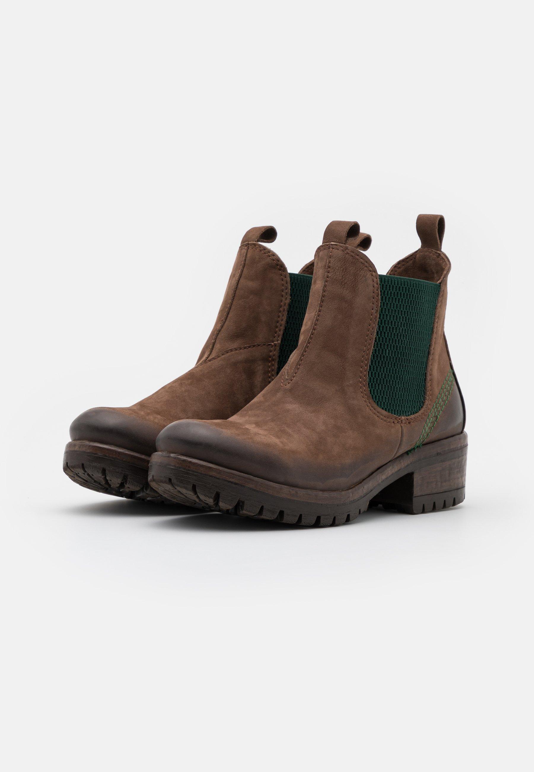 Lazamani Ankle Boot green/braun