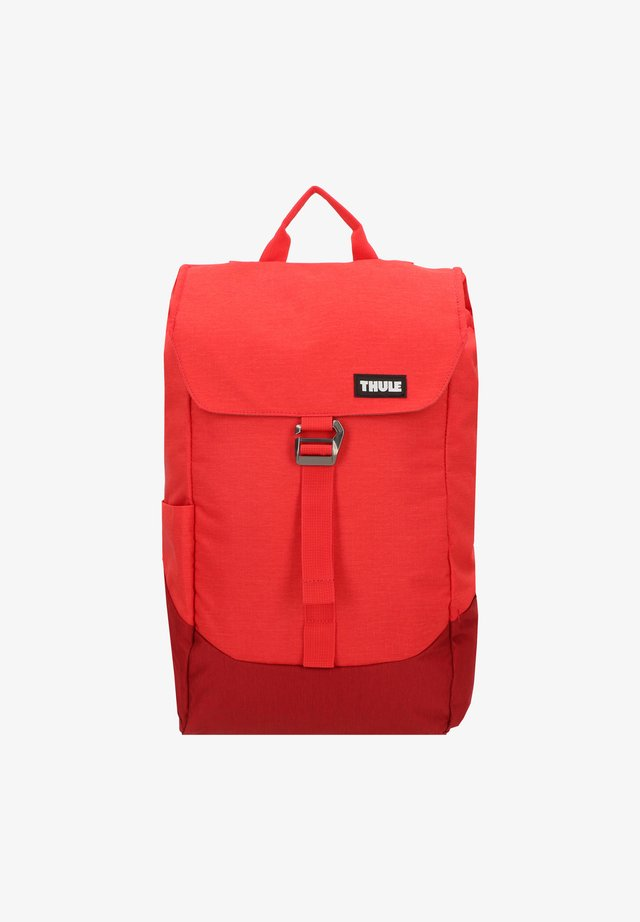 LITHOS - Rucksack - lava/red feather