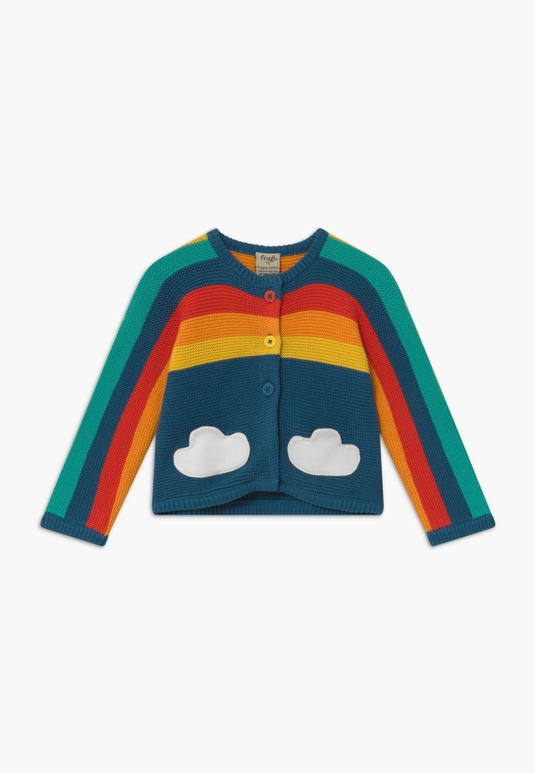 Große Förderung Frugi ORGANIC COTTON RAINBOW BABY - Strickjacke - steely blue | Damenbekleidung 2020