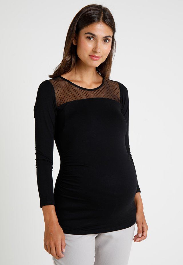 PLUMY  - Long sleeved top - black