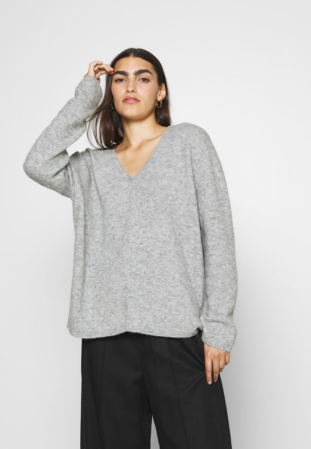 WOMEN´S - Sweter - light grey melange