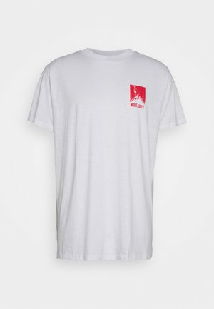 DASHE - T-shirt z nadrukiem - white/red