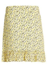 WE Fashion - MET BLOEMENDESSIN - A-line skirt - light yellow - 4