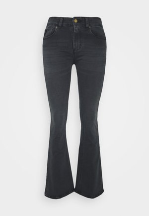 MELROSE - Flared Jeans - black stone