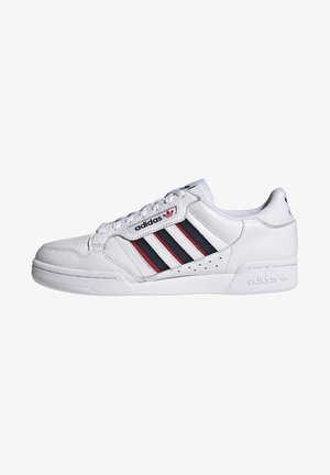 CONTINENTAL 80 STRIPES UNISEX - Matalavartiset tennarit - footwear white/collegiate navy/vivid red