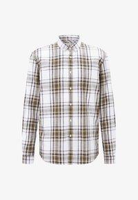 TOM TAILOR DENIM - Shirt - white olive check - 5