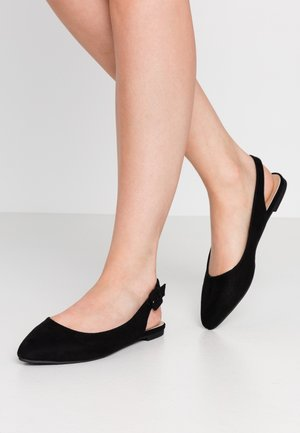 Slingback ballet pumps - black