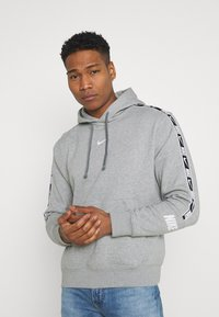 Nike Sportswear - REPEAT HOODIE  - Hoodie - grey heather/white - 0