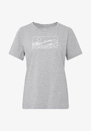 T-shirt z nadrukiem - grey melange
