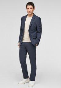s.Oliver BLACK LABEL - MIT HYPERSTRETCH - Suit trousers - dark blue - 1