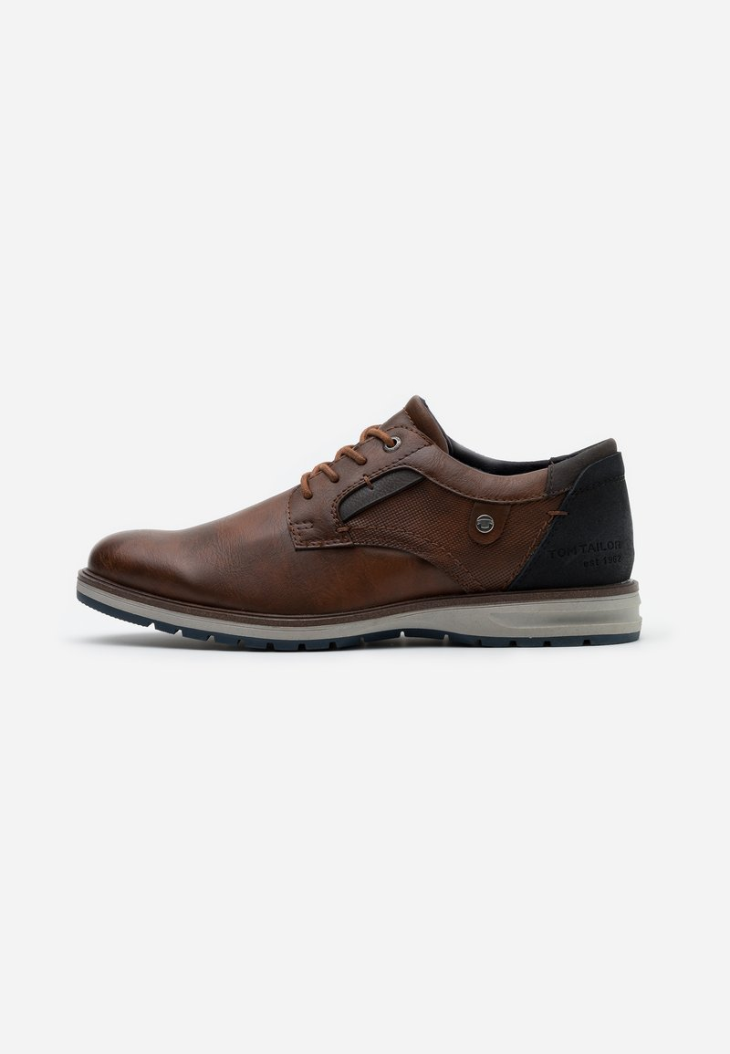 TOM TAILOR - Casual lace-ups - cognac