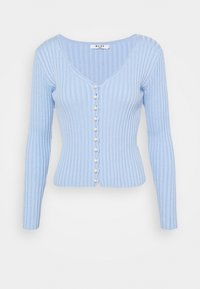 NA-KD - DETAILED CARDIGAN - Vest - light blue - 4