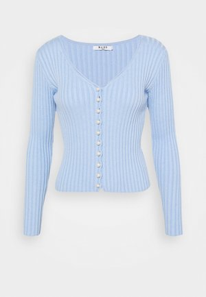 DETAILED CARDIGAN - Cardigan - light blue