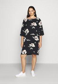 ONLY Carmakoma - CARTINE TUNIC DRESS - Day dress - black - 0