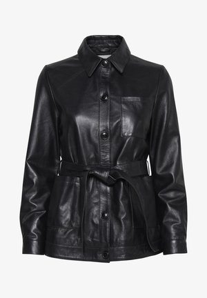 IHHALIA - Leather jacket - black