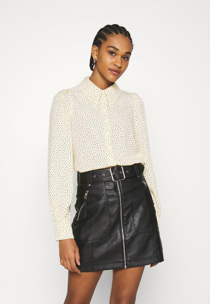 Monki - Button-down blouse - light yellow