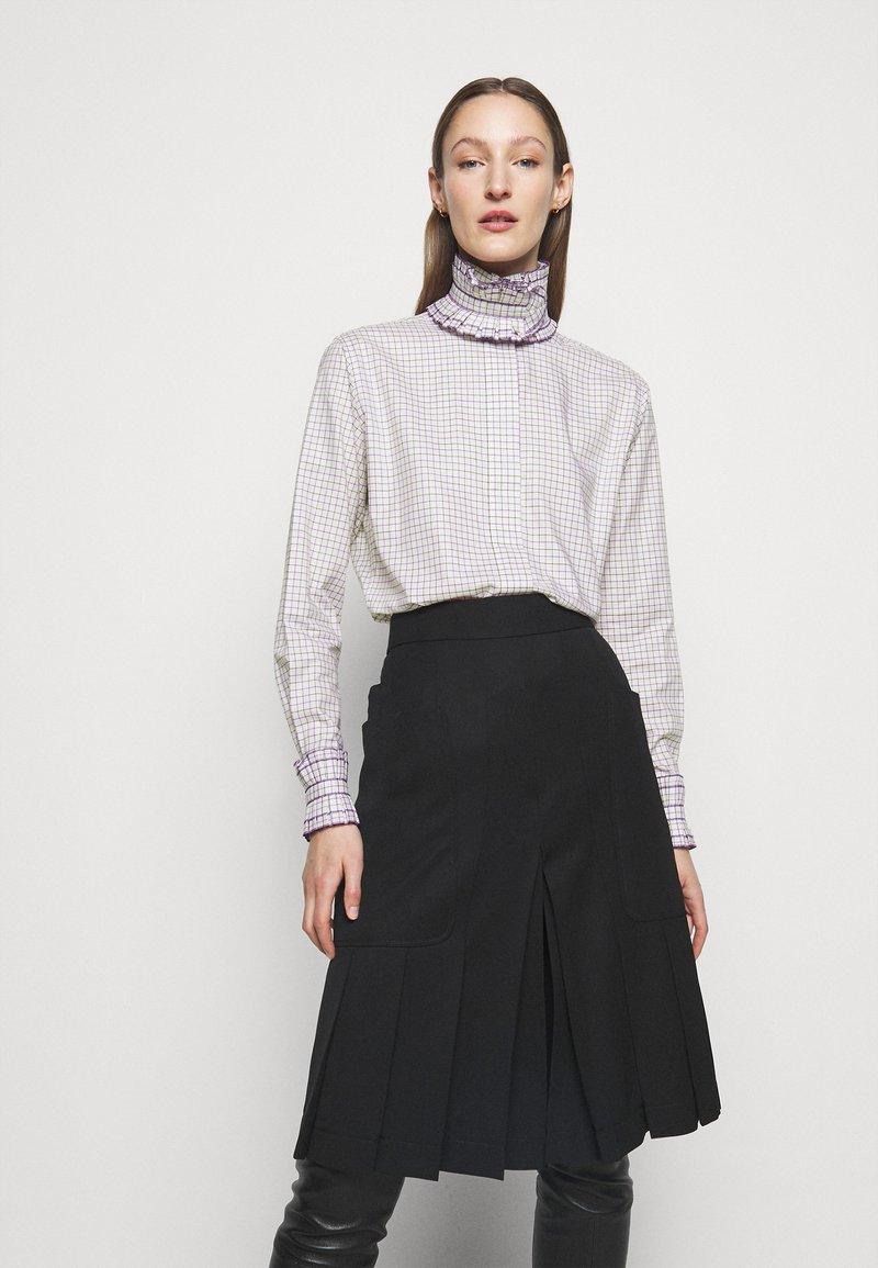Victoria Beckham - RUFFLE  - Button-down blouse - ecru/purple