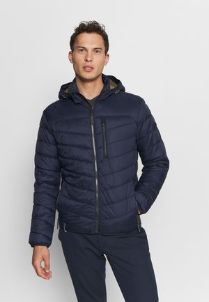 WITH HOODY - Light jacket - navy