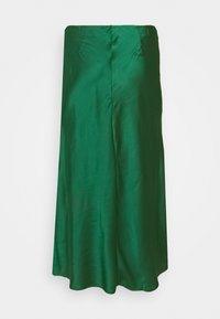 Glamorous Curve - MIDI SKIRT - Maxi skirt - dark green satin - 1