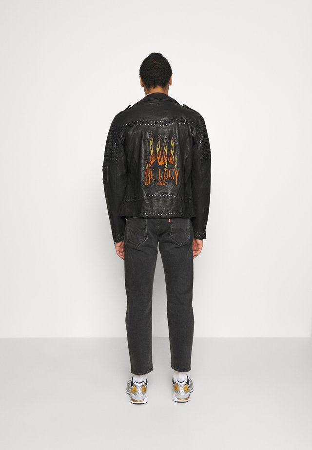 CAMIL - Veste en cuir - black