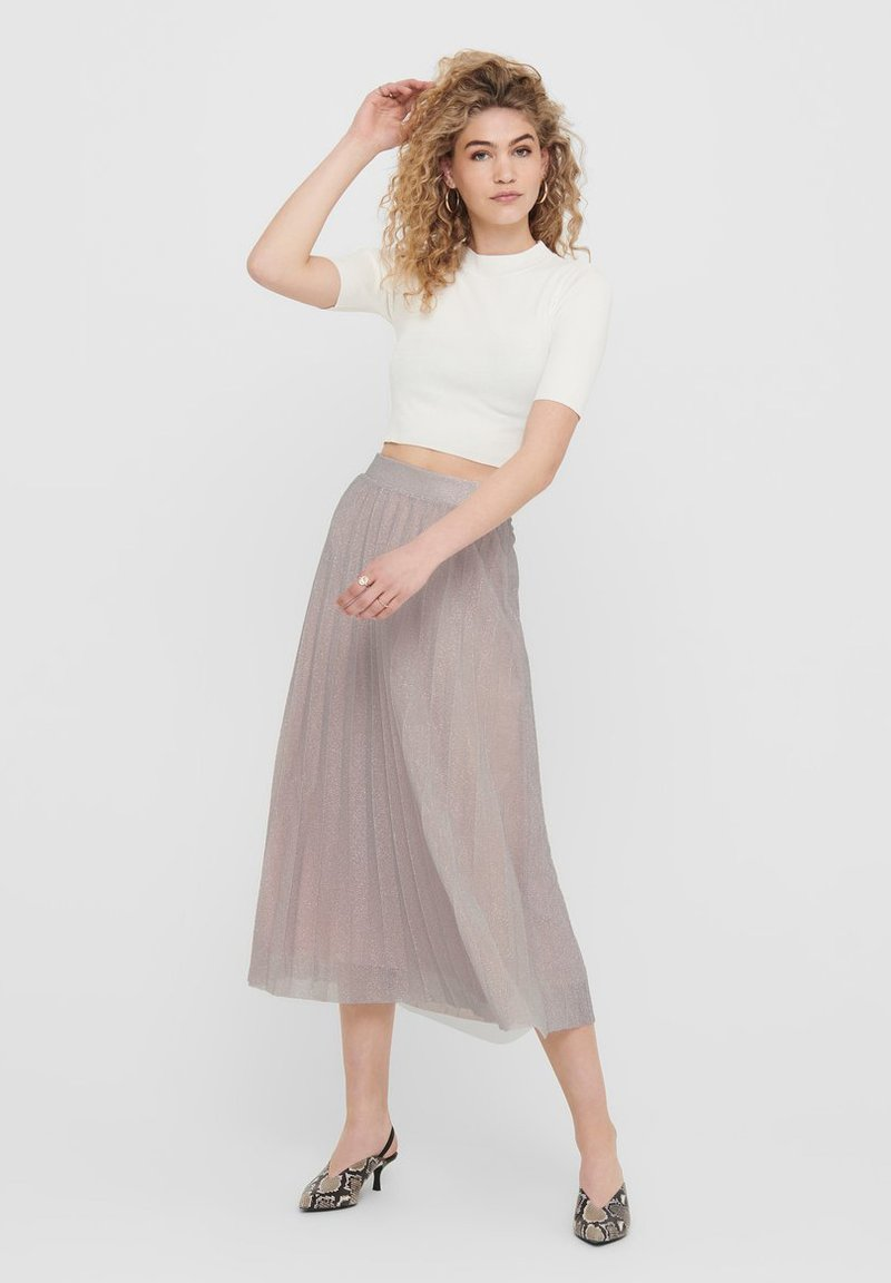 ONLY - Pleated skirt - Dusty Pink