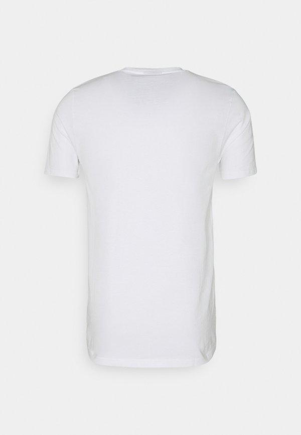 Ellesse TRISCIA TEE - T-shirt z nadrukiem - white/biały Odzież Męska NRQB