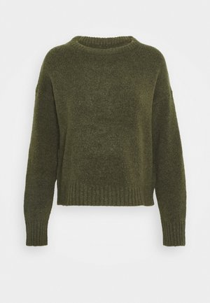 BASIC- SHORT JUMPER - Strikkegenser - khaki