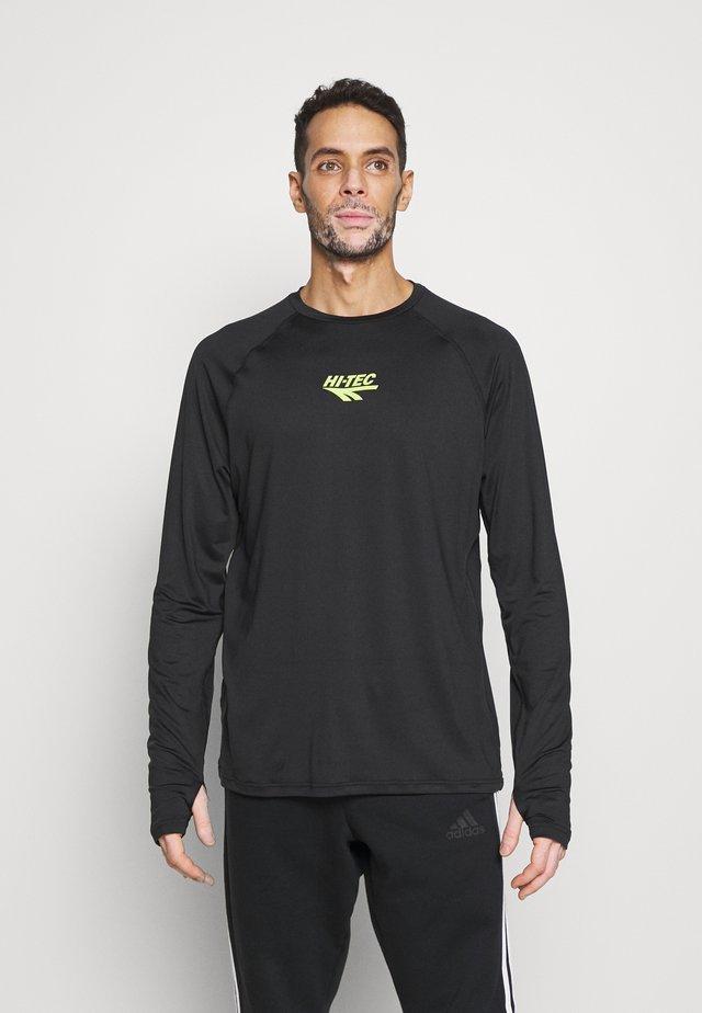 FRANK BASIC LOGO TEE - Long sleeved top - black