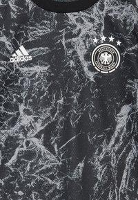 adidas Performance - DFB DEUTSCHLAND PRESHI Y - Print T-shirt - black/grey heather - 5