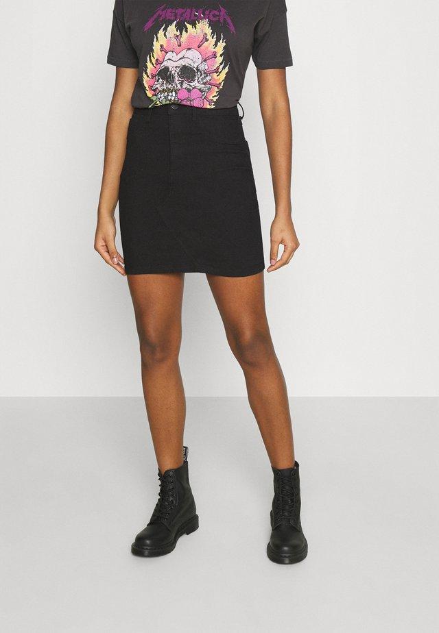 VIINES ANA SHORT SKIRT - Denimová sukně - black