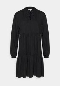 TOM TAILOR DENIM - MIDI DRESS WITH BOW DETAIL - Denní šaty - deep black - 0