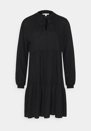 MIDI DRESS WITH BOW DETAIL - Day dress - deep black