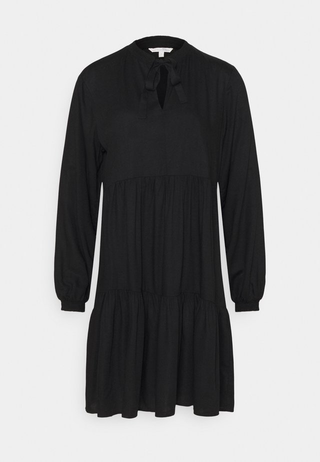 MIDI DRESS WITH BOW DETAIL - Sukienka letnia - deep black