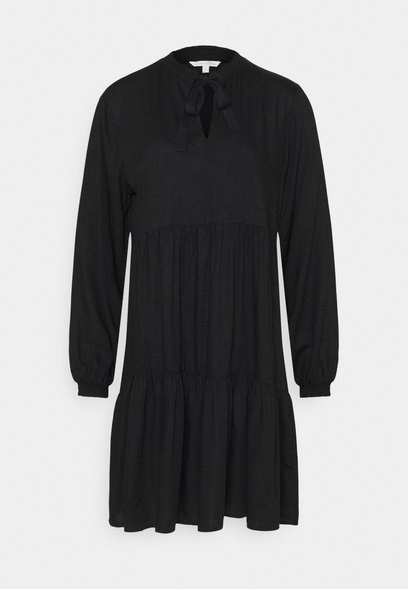 TOM TAILOR DENIM - MIDI DRESS WITH BOW DETAIL - Denní šaty - deep black