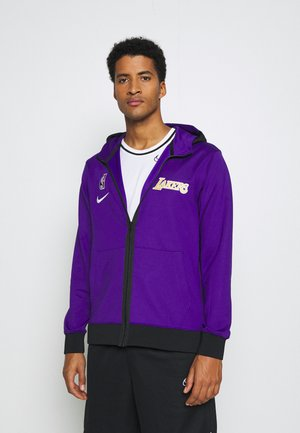NBA LA LAKERS THERMAFLEX SHOWTIME FULL ZIP HOODIE - Article de supporter - field purple/black/white