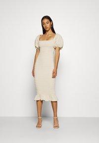 Never Fully Dressed - JOJO MIDI DRESS - Shift dress - offwhite - 0