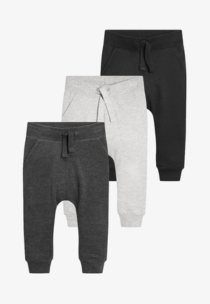 3 PACK - Tracksuit bottoms - black/grey