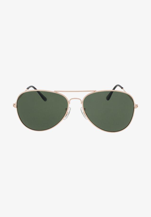 Occhiali da sole - gold / green lens