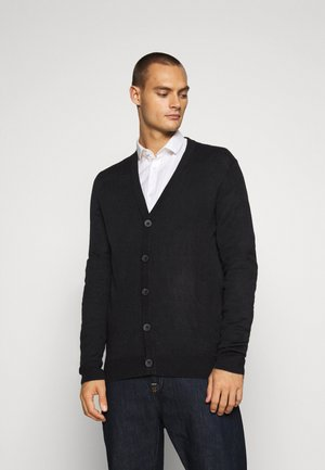 WHITLAW - Kardigan - jet black/charcoal marl