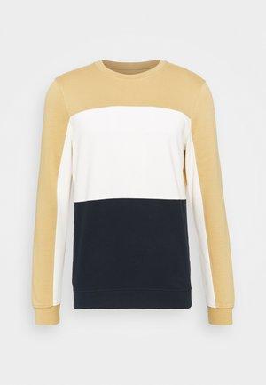 COLOURBLOCK CREWNECK - Sweatshirt - lark beige