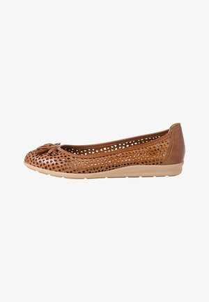 Ballet pumps - cognac antic