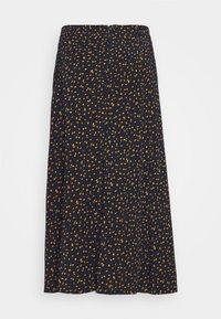 mine to five TOM TAILOR - SKIRT PRINTED MIDI - A-line skirt - navy/orange - 1