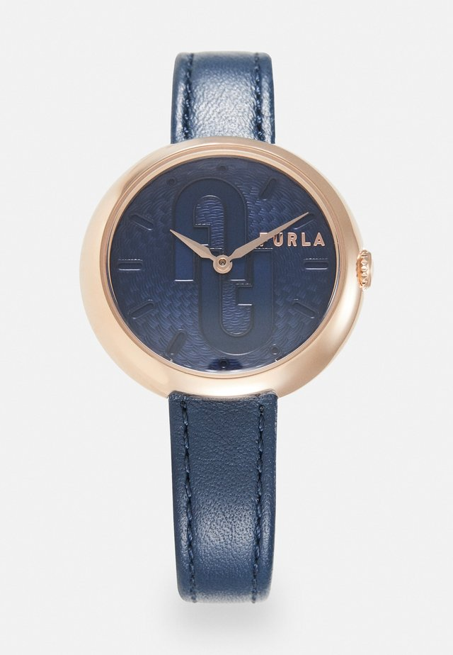 COSY - Montre - blue/rosegold-coloured