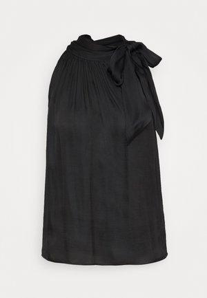 TIE NECK HALTER - Bluser - black
